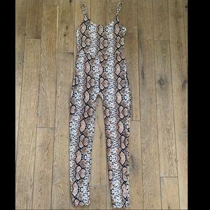 Snake print jumpsuit
